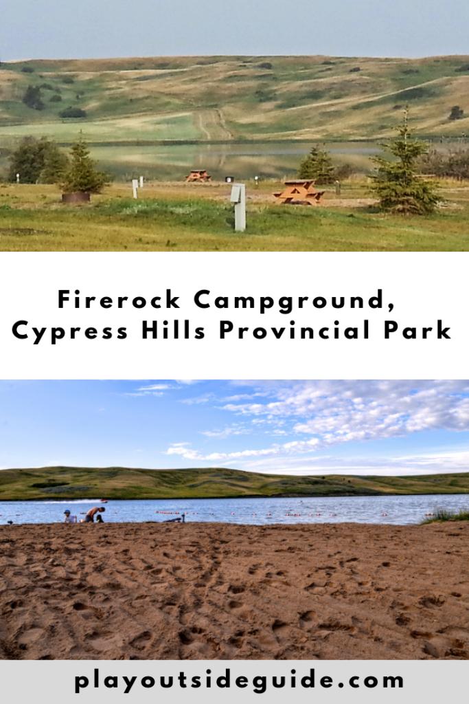 Firerock Campground, Cypress Hills Provincial Park Pinterest pin