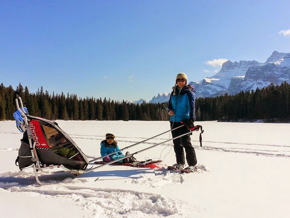 Snowshoeing Johnson Lake Banff