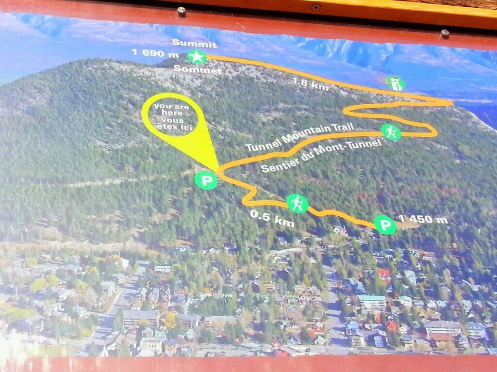tunnel-mountain-banff-map