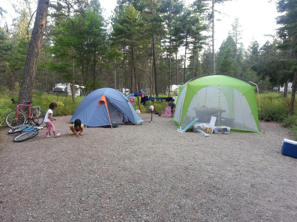 Ellison Provincial Park campsite