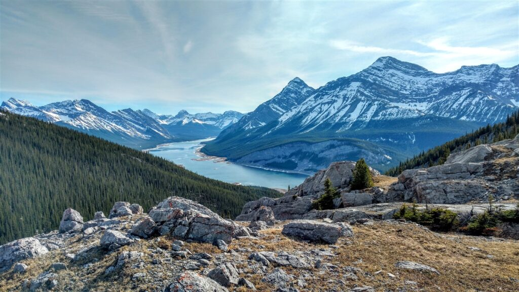 View of Spray Lakes from West Wind Pass, Kananaskis