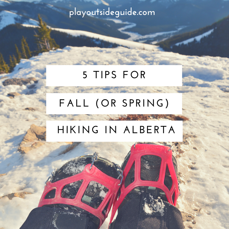 5 tips for fall or spring hiking in alberta