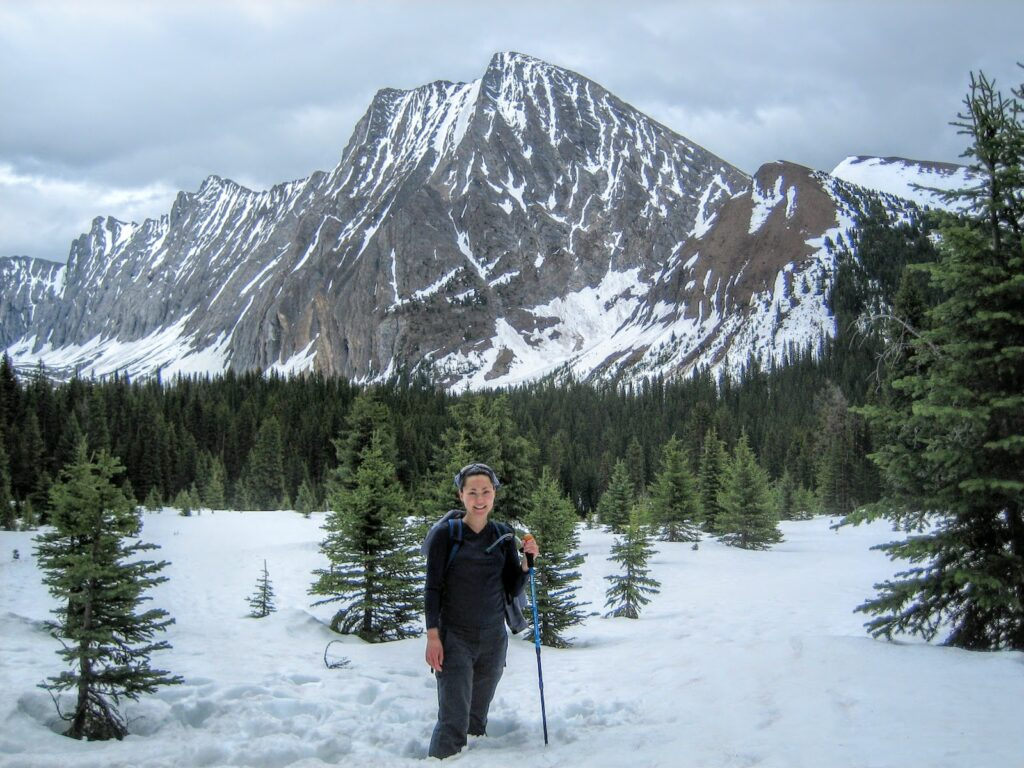 chester lake snowshoe, kananaskis