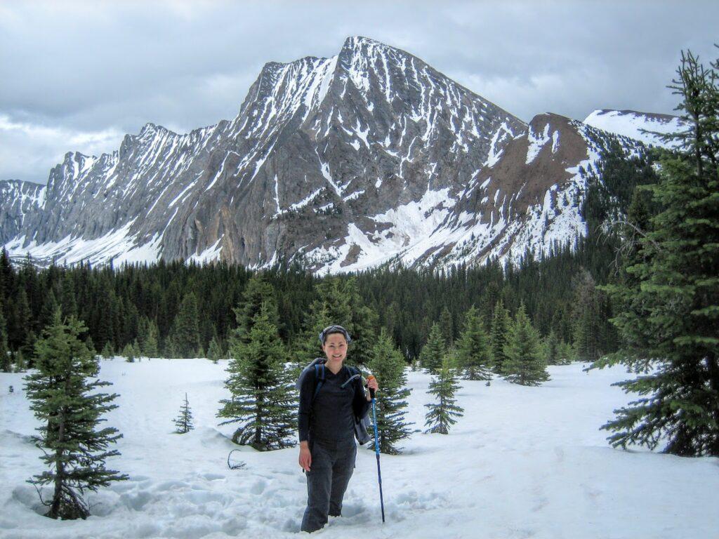 chester lake snowshoe, kananaskis