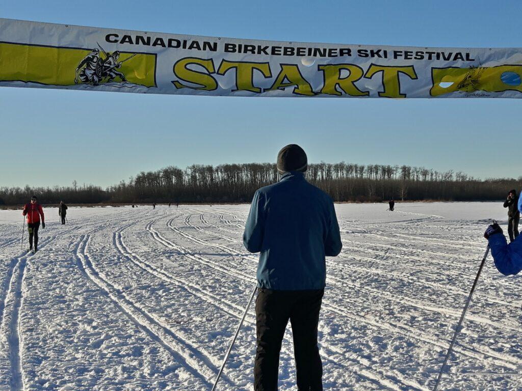 Canadian Birkie Course Start Line - Goose Lake