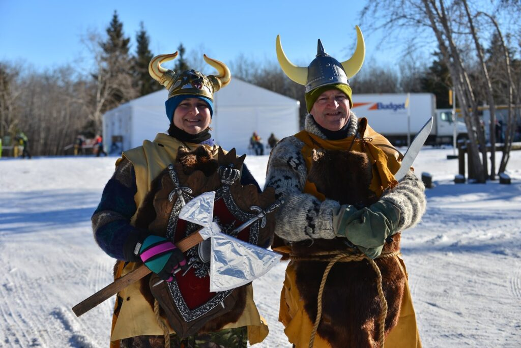 Costumed Birkebeiners at the Canadian Birkebeiner