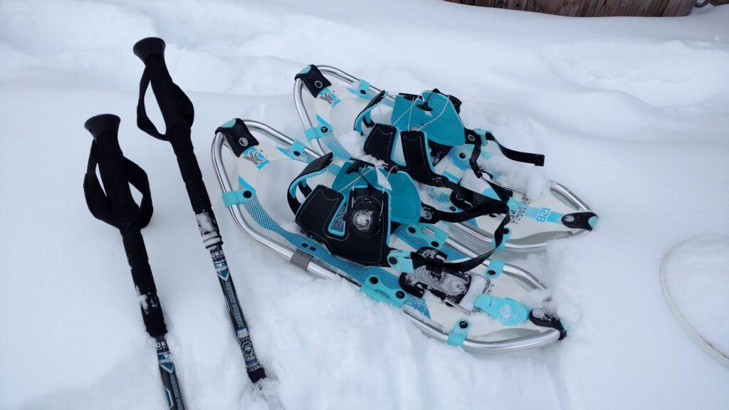 Yukon-Charlies-Elite-Spin-Snowshoes-Carbon-Trekking-Poles