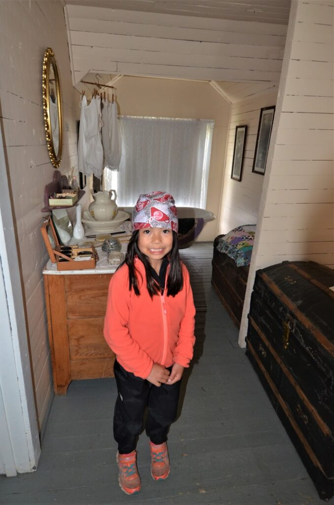 Trunnell Log Home Bedroom, Caroline Museum
