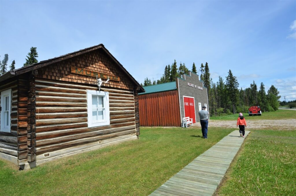 Anderson Cabin and Village Office/Fire Hall, Caroline Museum