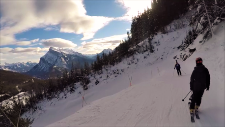 Skiing at Mount Norquay