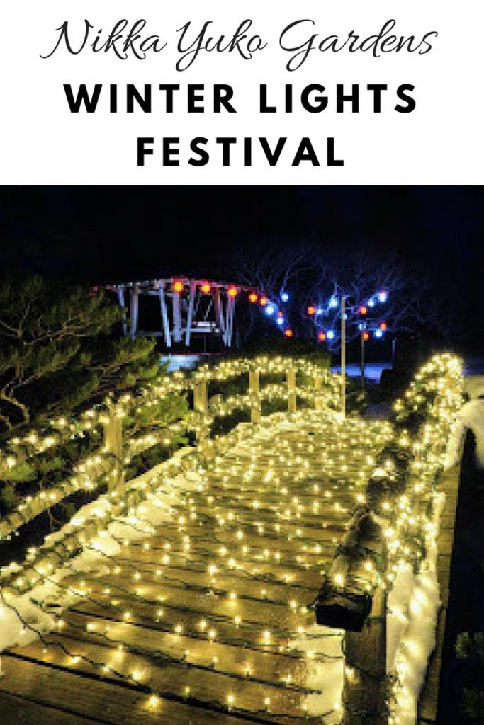Nikka Yuko Japanese Gardens Winter Lights Festival