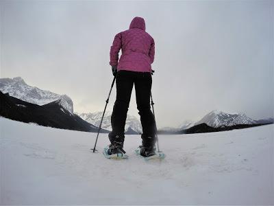 snowshoeing upper kananaskis lake