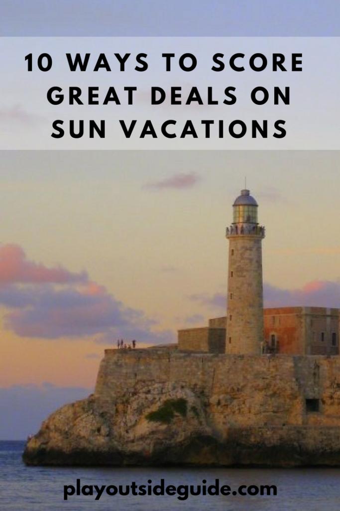 ten ways to save money on sun vacations