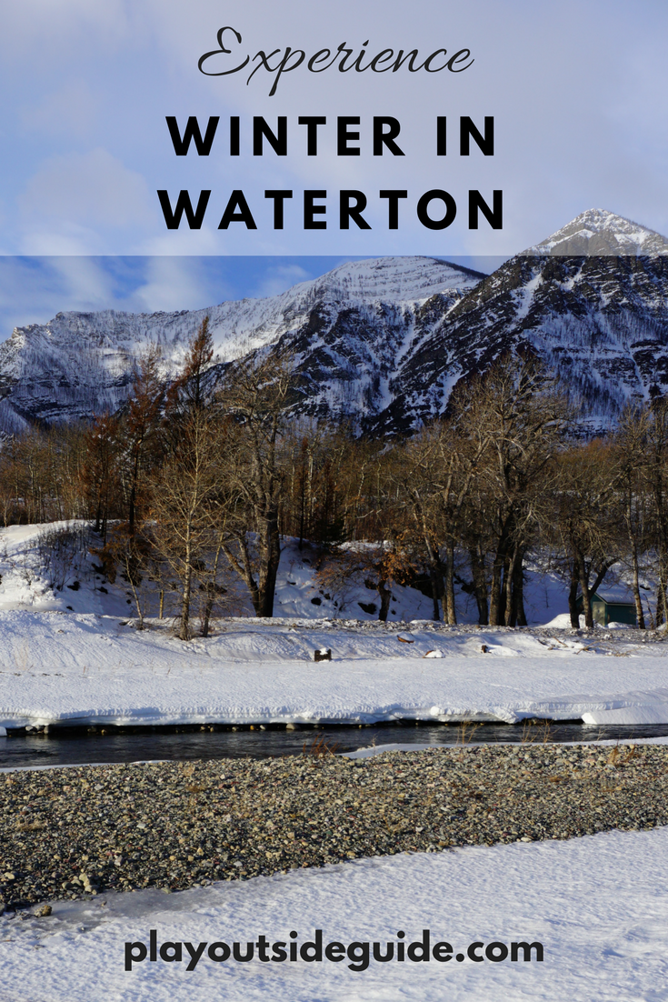 Experience winter in Waterton Lakes National Park