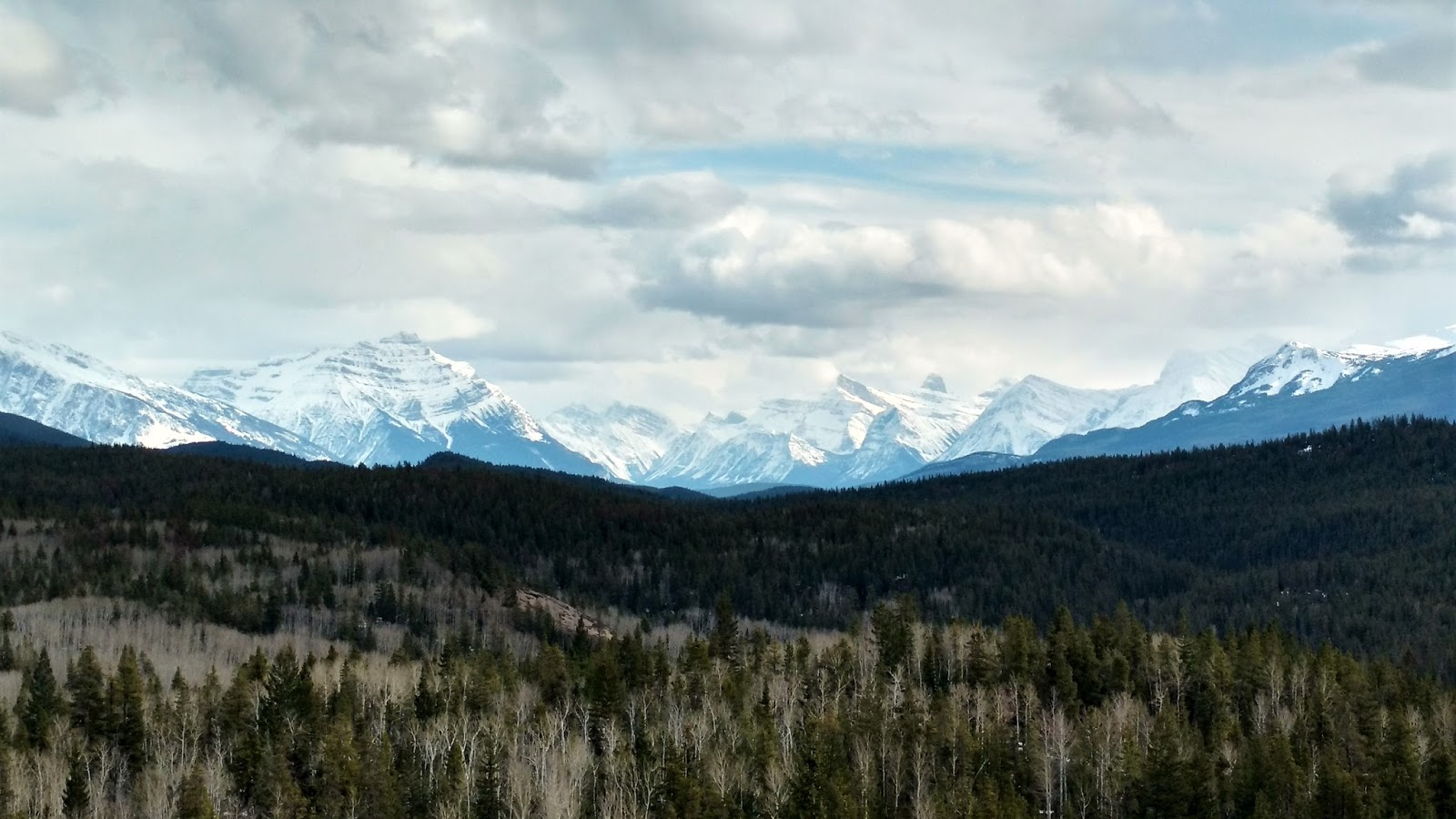 View from Old Fort Point, Jasper National Park
