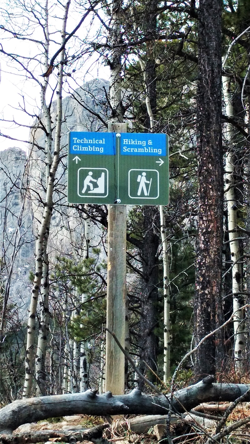Mount Yamnuska Hiking Trail Sign