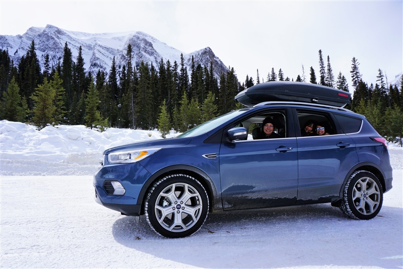2018 Ford Escape Titanium at Lake Louise, Banff