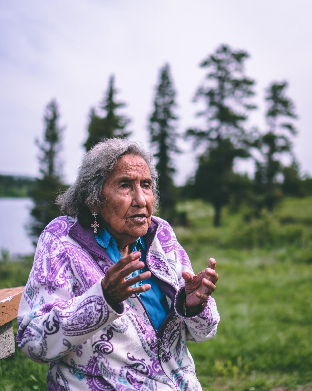 Elder Margaret Plain Eagle, Castle Provincial Park