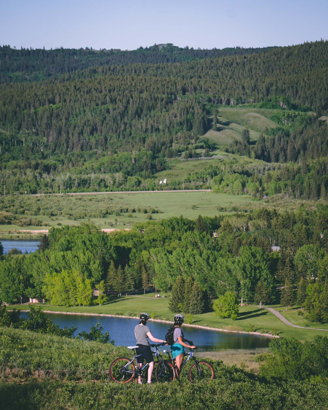 Mountain biking in Cypress Hills Provincial Park