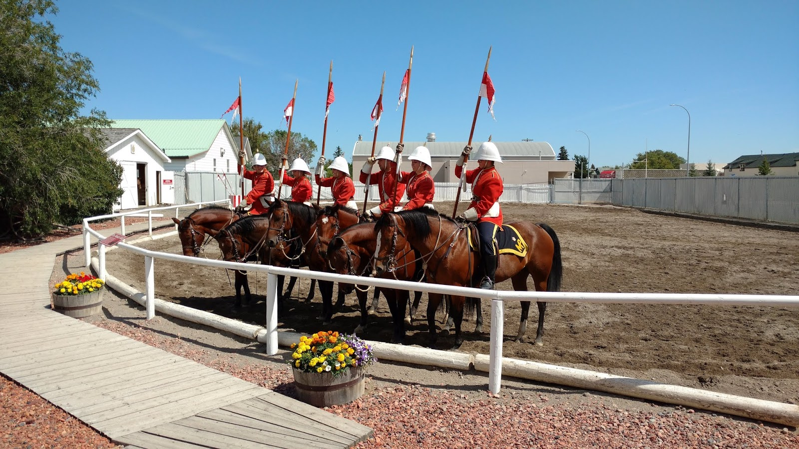 The NWMP Musical Ride at The Fort Museum, Fort Mcleod
