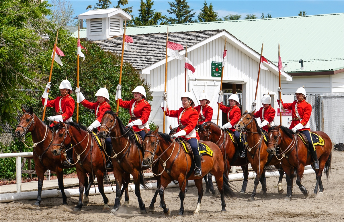 The NWMP Musical Ride at The Fort, Fort Macleod