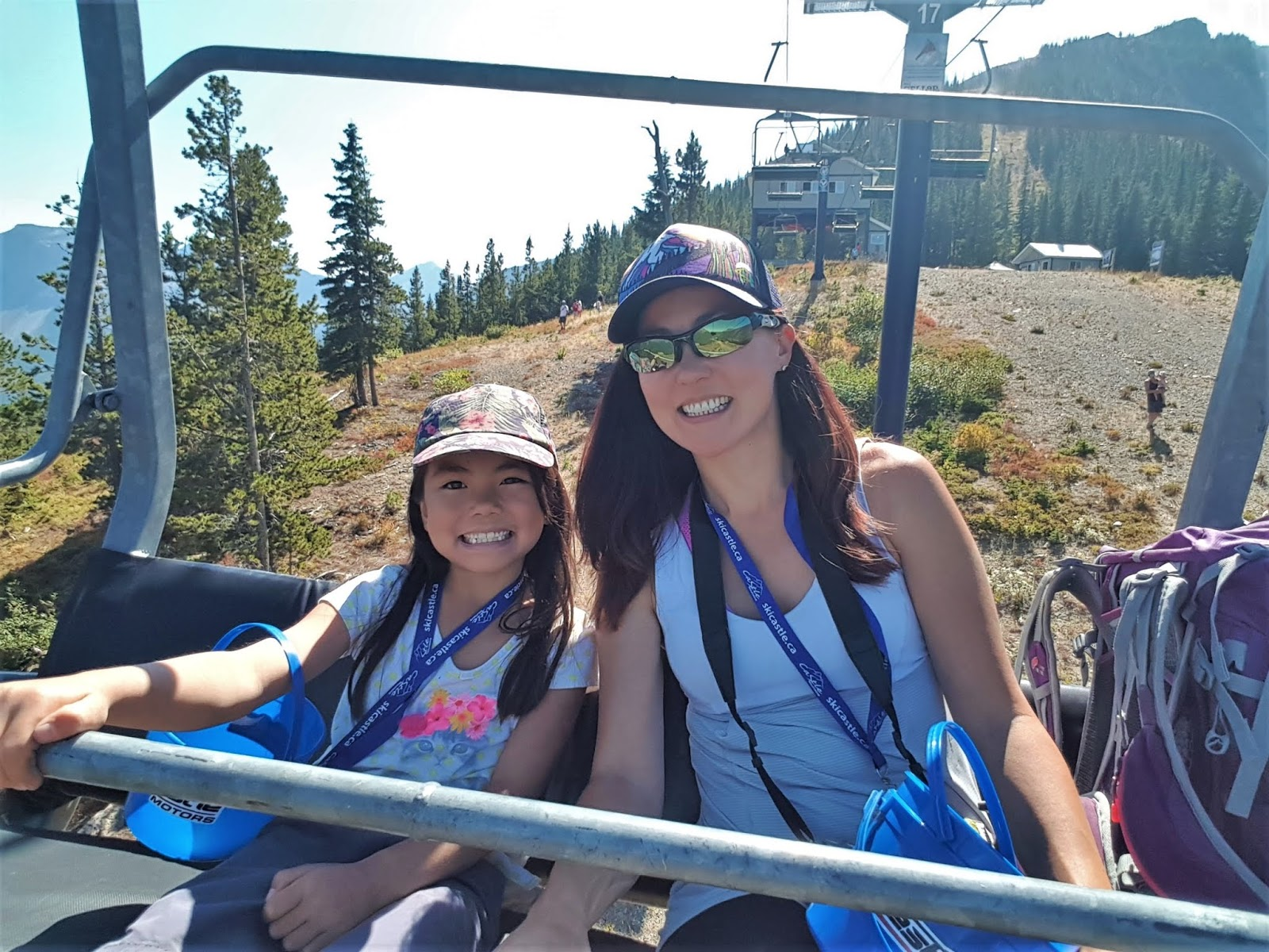 Castle Mountain Huckleberry Festival - chairlift ride
