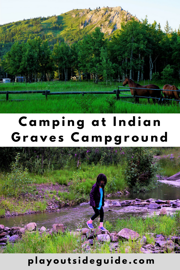 Camping at Indian Graves Campground, South Kananaskis