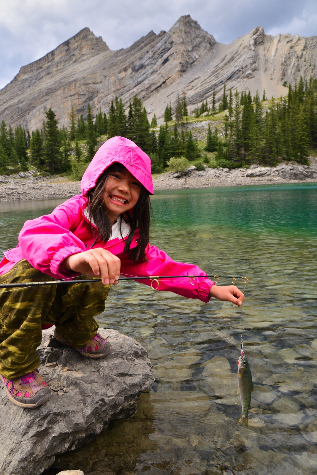Fishing at Picklejar Lakes, Kananaskis