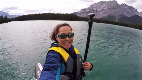 SUP day at Two Jack Lake, Banff