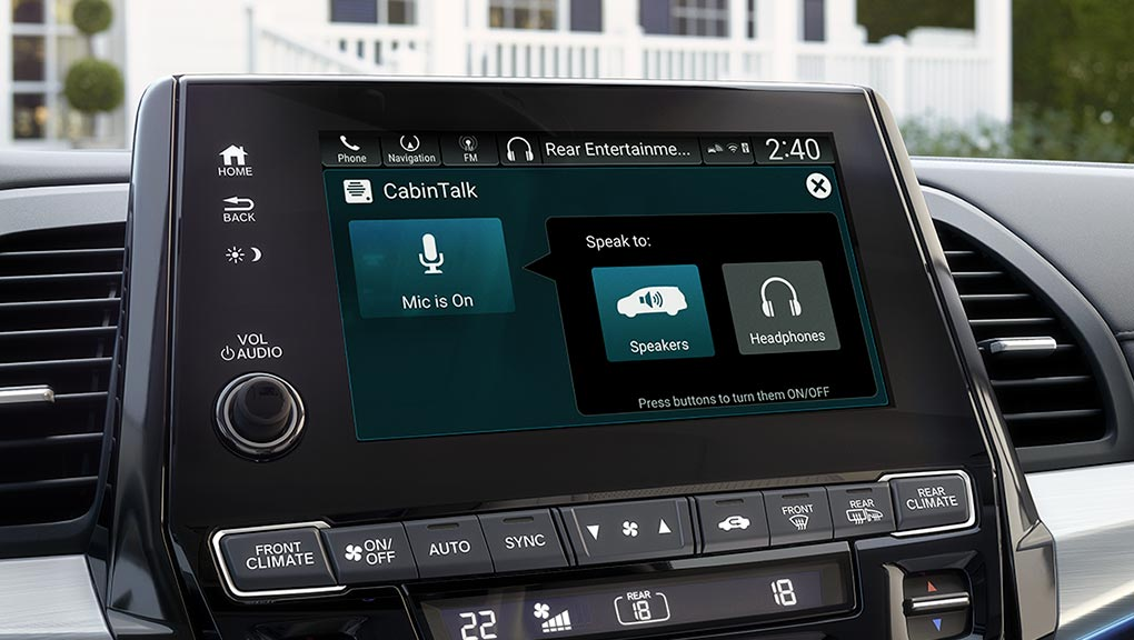 2018 Honda Odyssey Touring Infotainment System