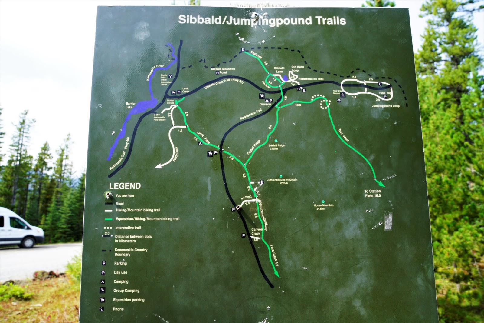 Jumpingpound Summit map