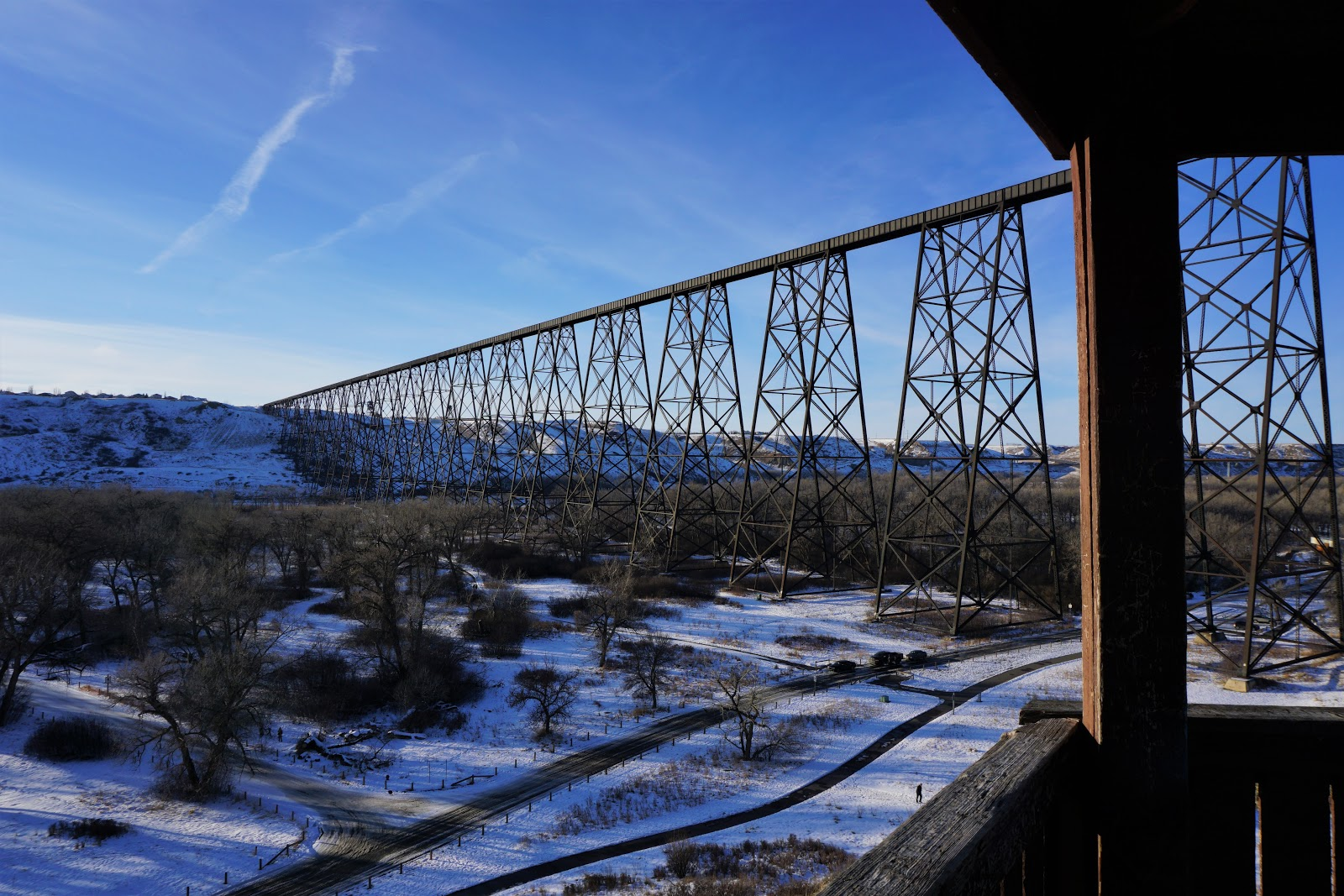 Lethbridge Viaduct from Coulee Climb Lookout