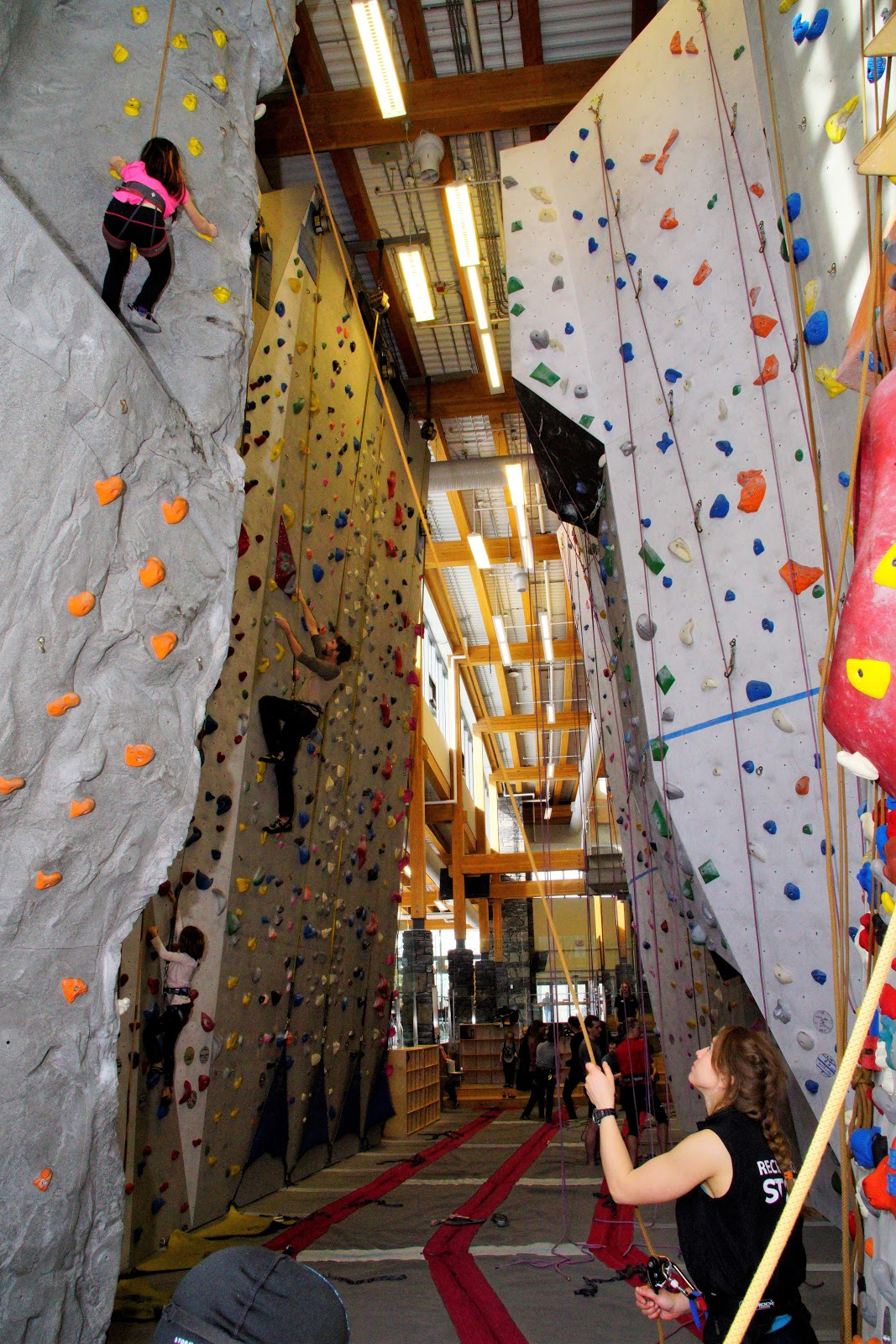 Climbing gym at Elevation Place, Canmore