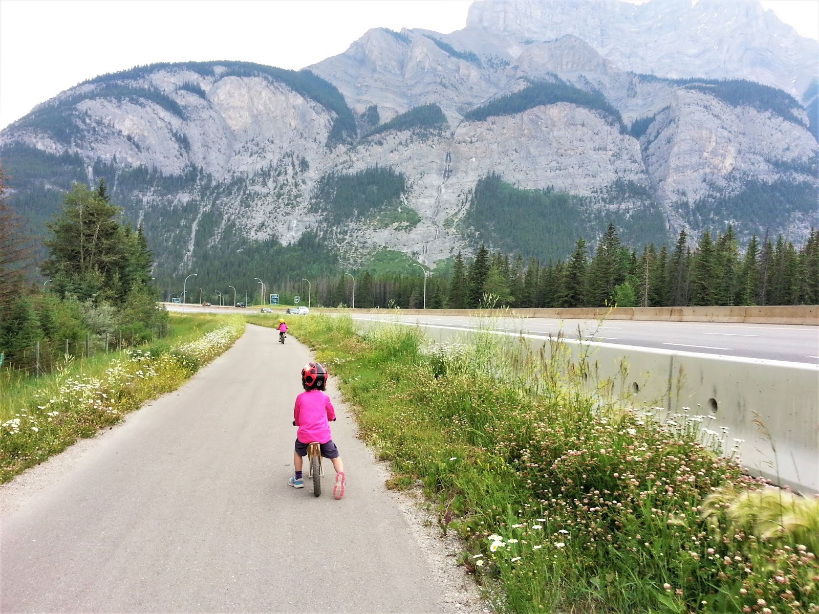Biking the Rocky Mountain Legacy Trail, Banff
