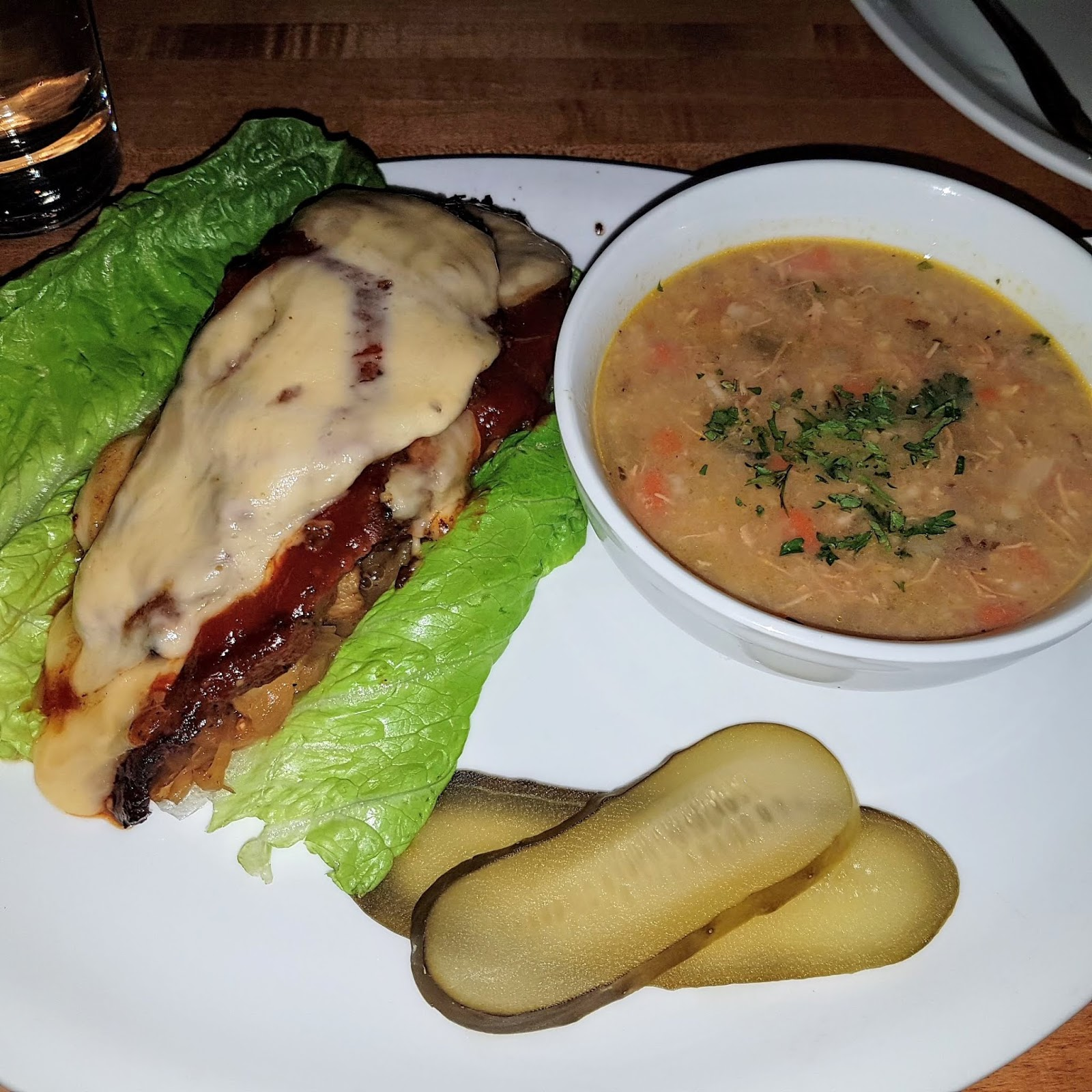 Steak and soup at Rustic Kitchen and Bar