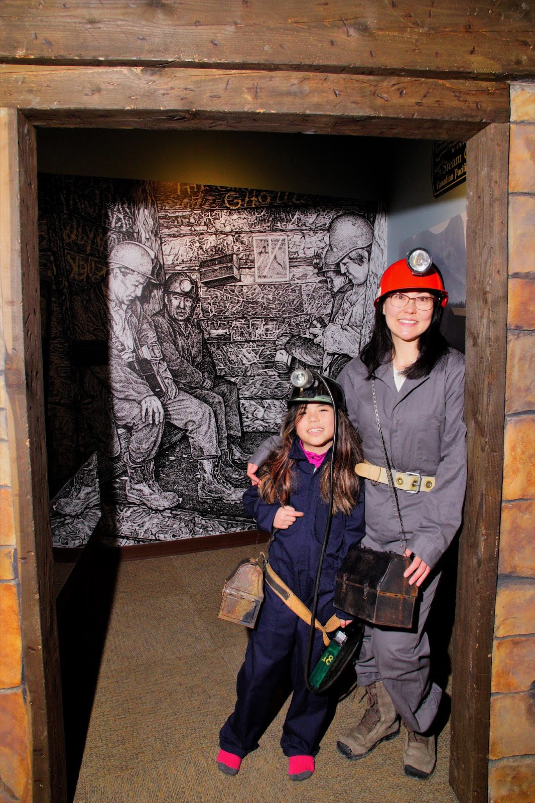 Miner selfie at Canmore Museum