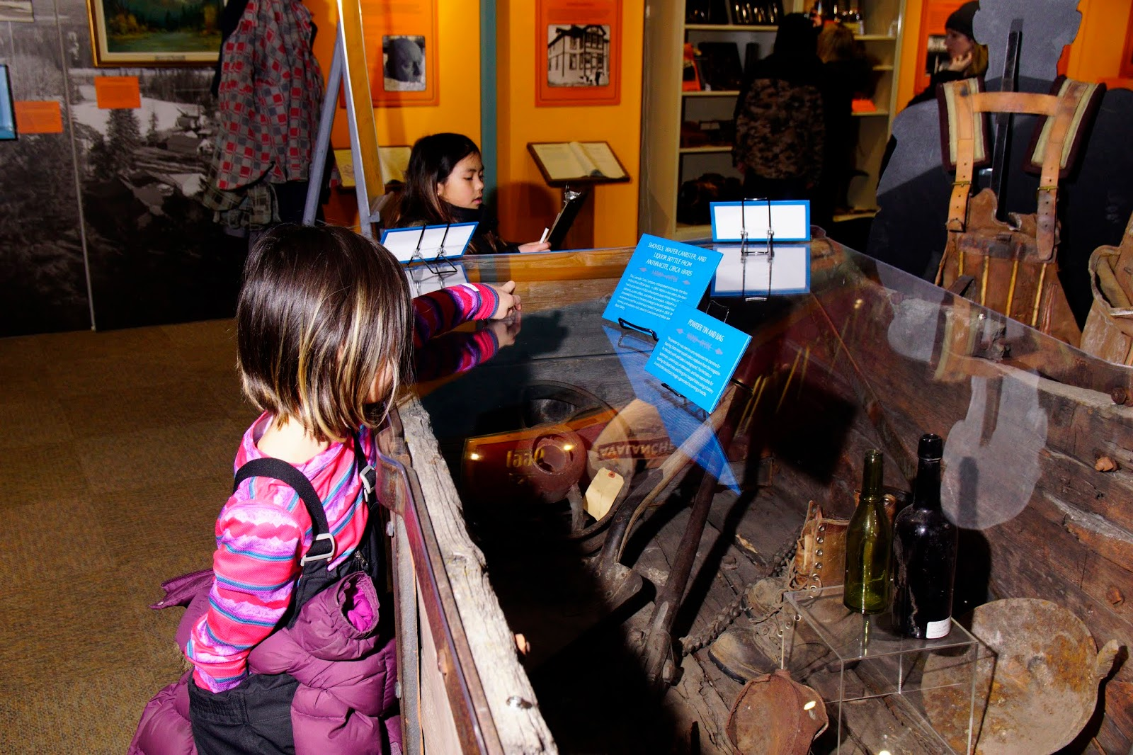 Mining artifacts at Canmore Museum