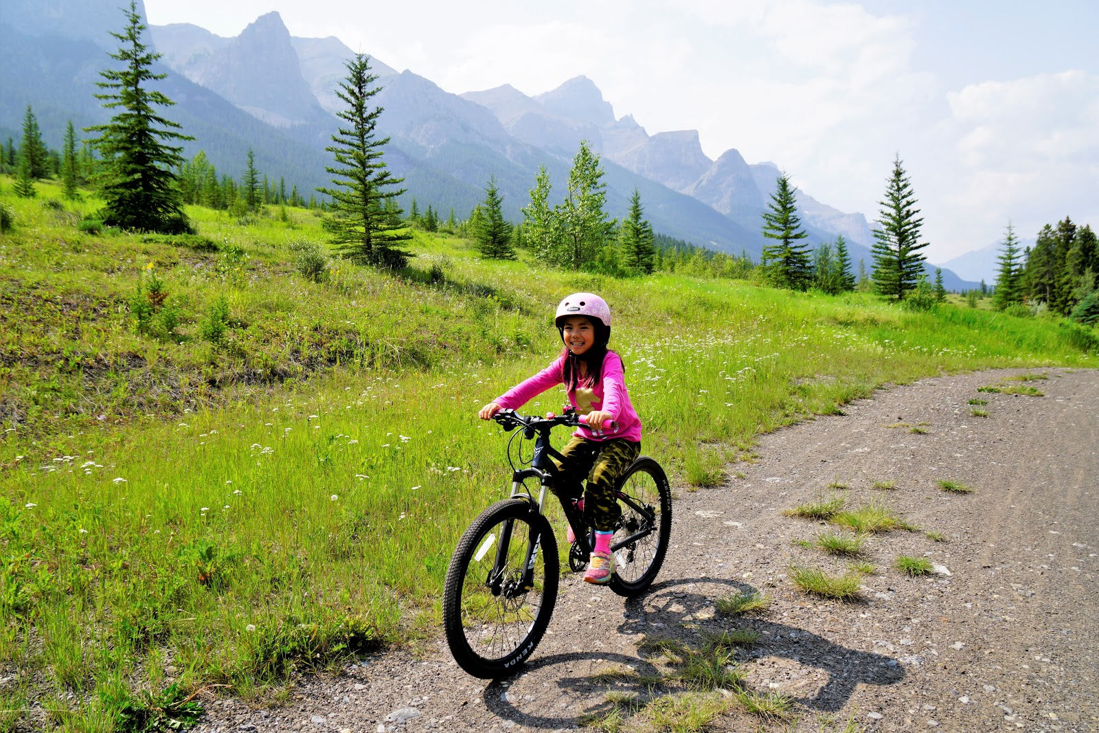 Mountain biking at Canmore Nordic Centre