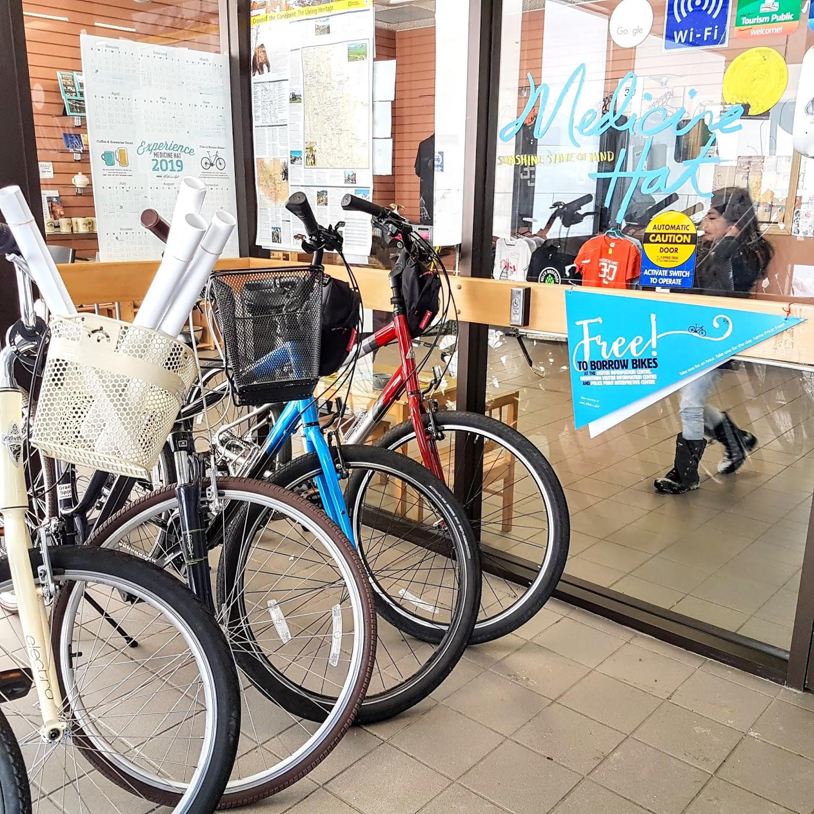 Medicine Hat Visitor Centre Loaner Bikes