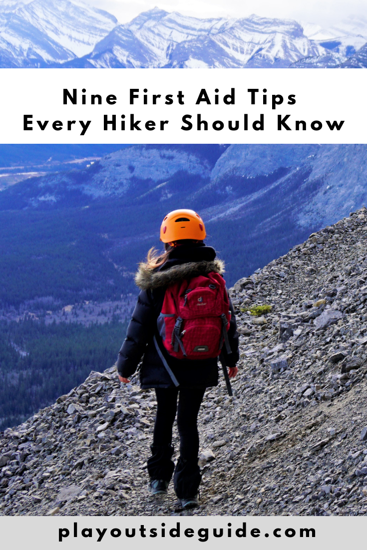 9 first aid tips every hiker should know pinterest pin