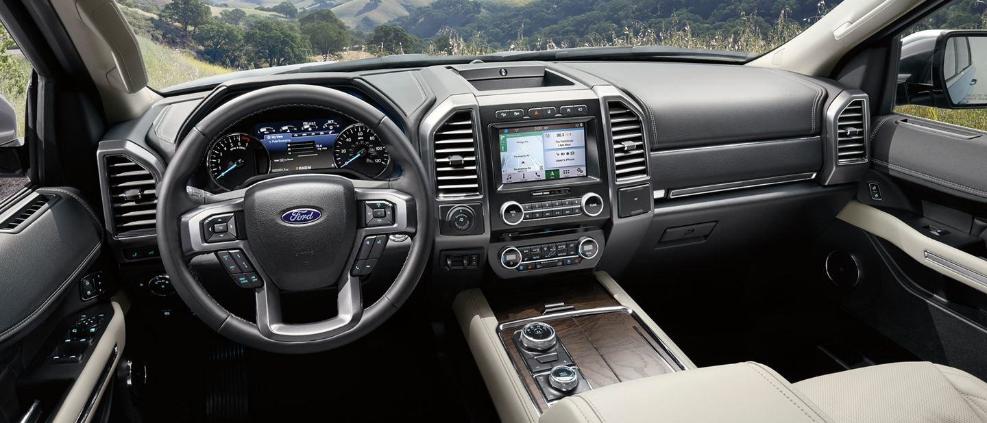 2019 Ford Expedition Cabin with 8-inch Sync 3 touch screen infotainment system