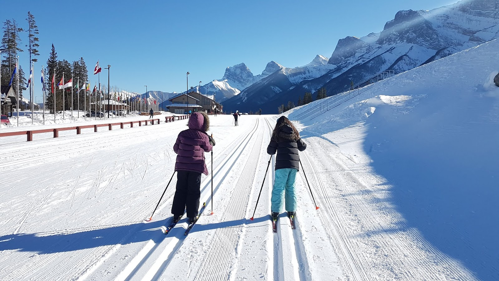 Cross country skiing at Canmore Nordic Centre