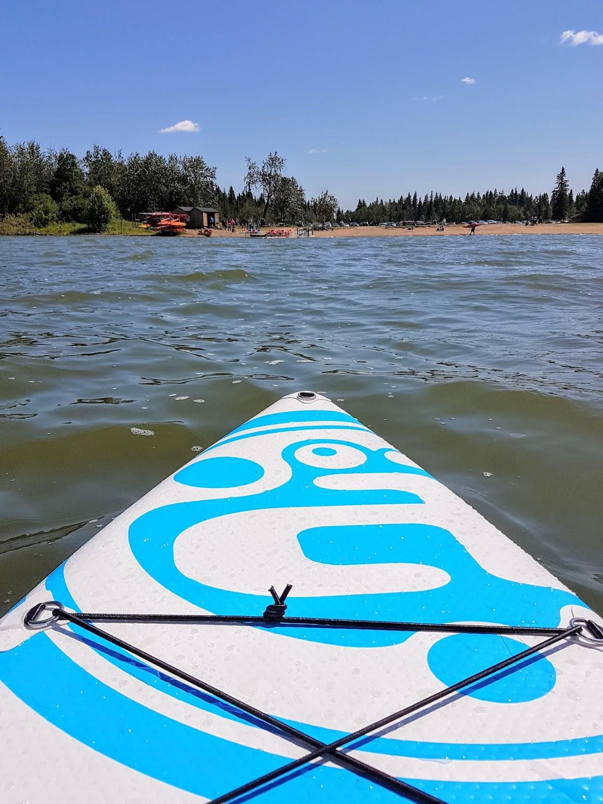 Stand up paddleboarding at Astotin Lake