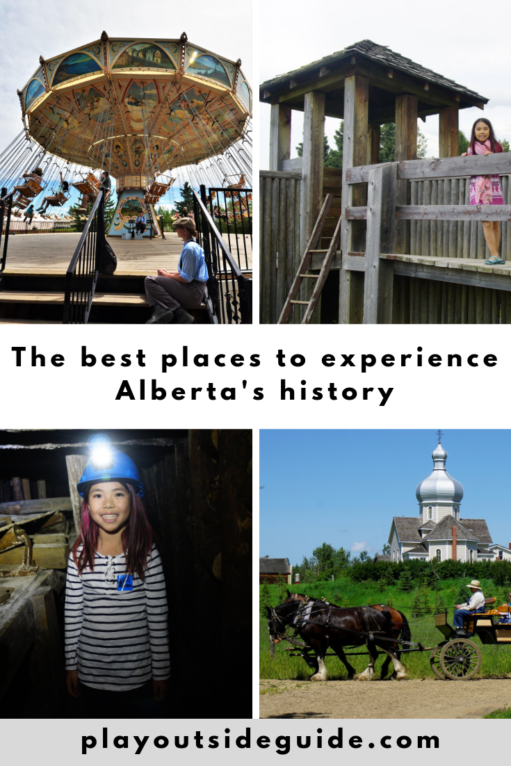 best places to experience Alberta history pinterest pin