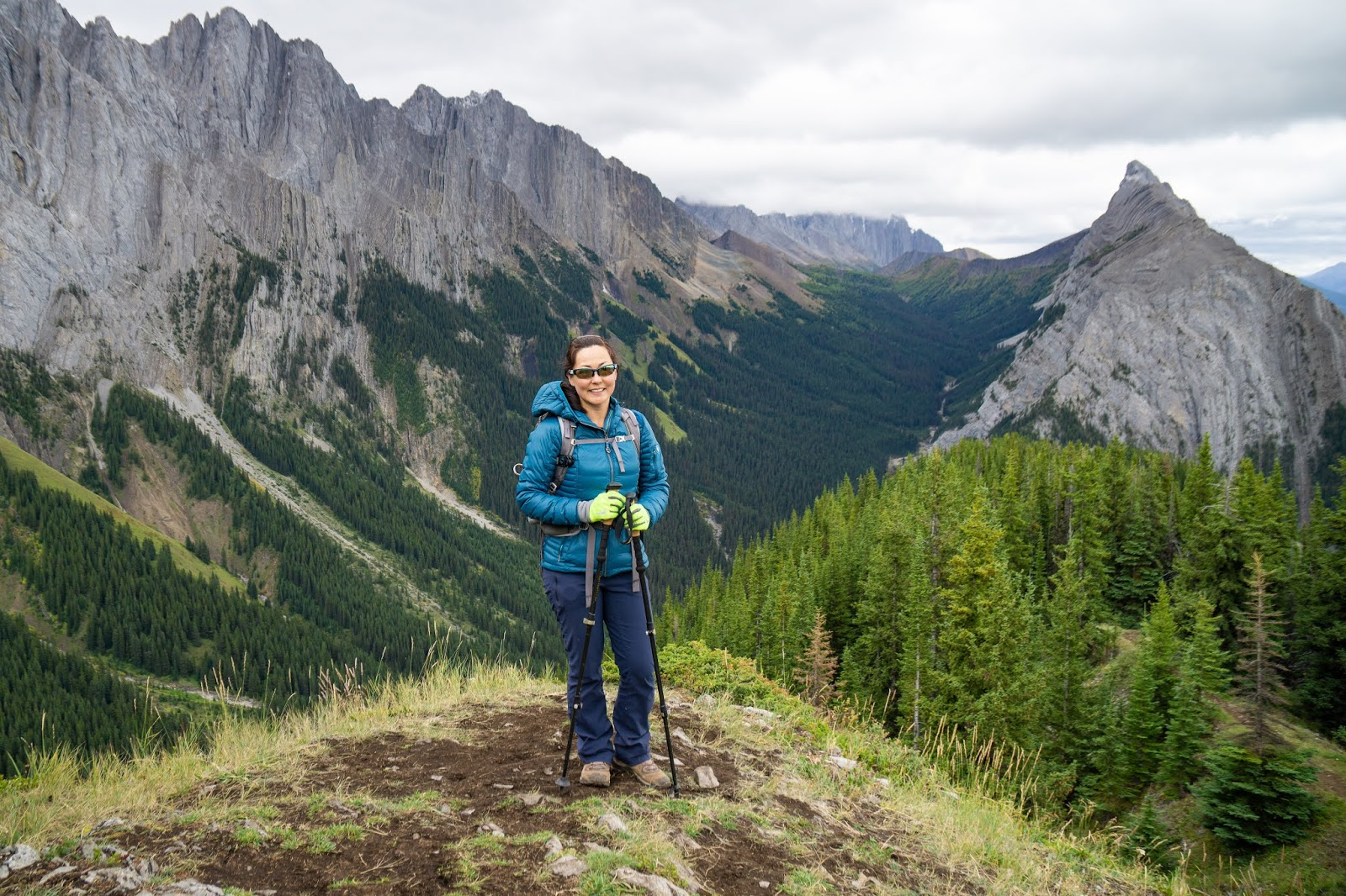 A fantastic viewpoint on King Creek Ridge