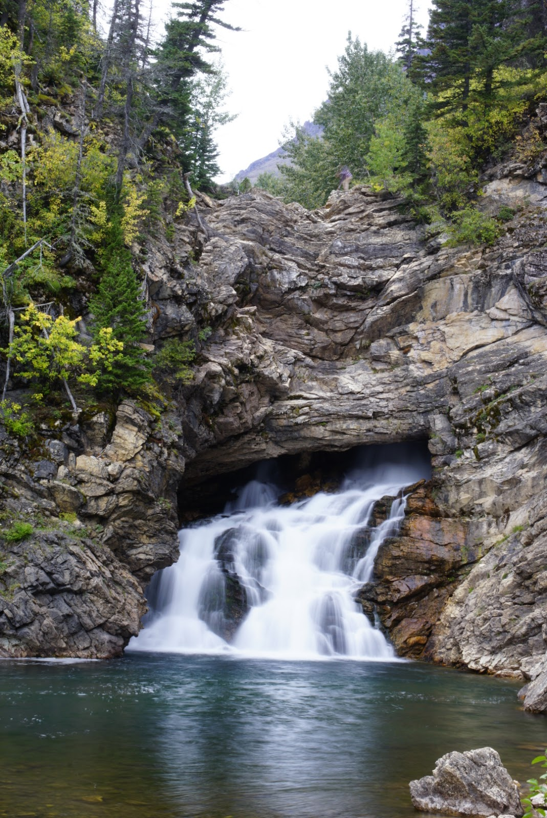 Running Eagle Falls close up, Glacier National Park
