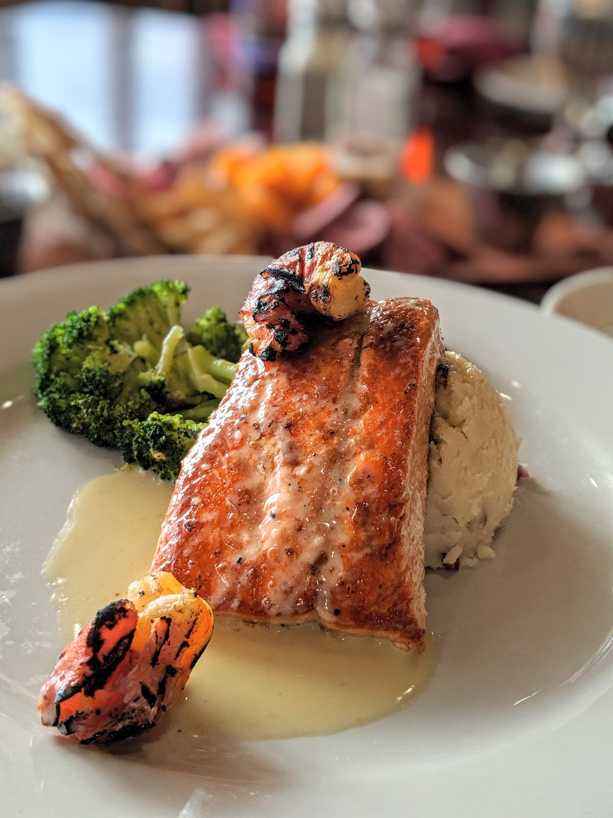 Delicious Rainbow Trout at Snowgoose Grille, St. Mary Village