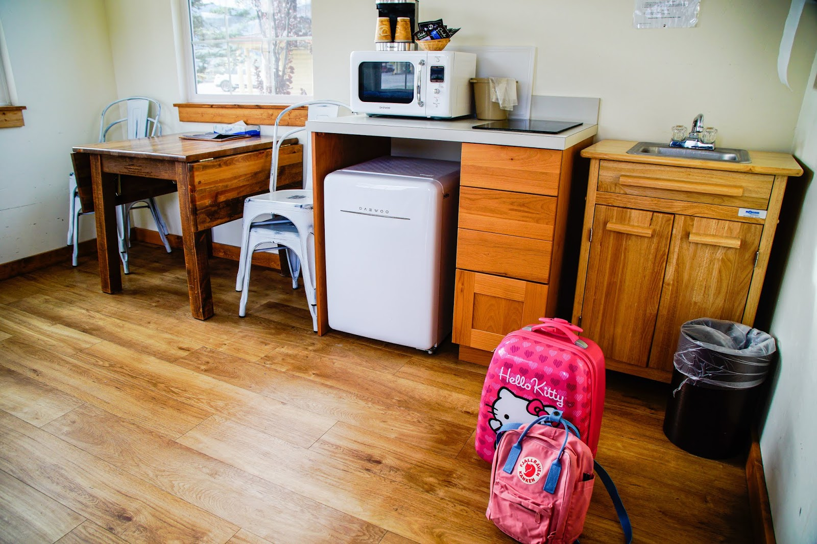 Tiny Home Kitchen and Dining Area. St. Mary Village