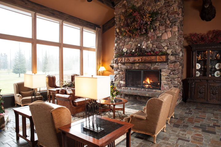 Grouse Mountain Lodge Lobby, Whitefish, Montana