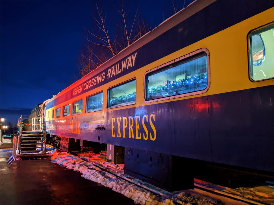 aspen crossing polar express train